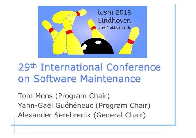 ICSM 2013