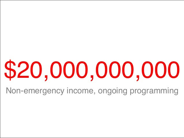 $20,000,000,000 Non-emergency income, ongoing programming