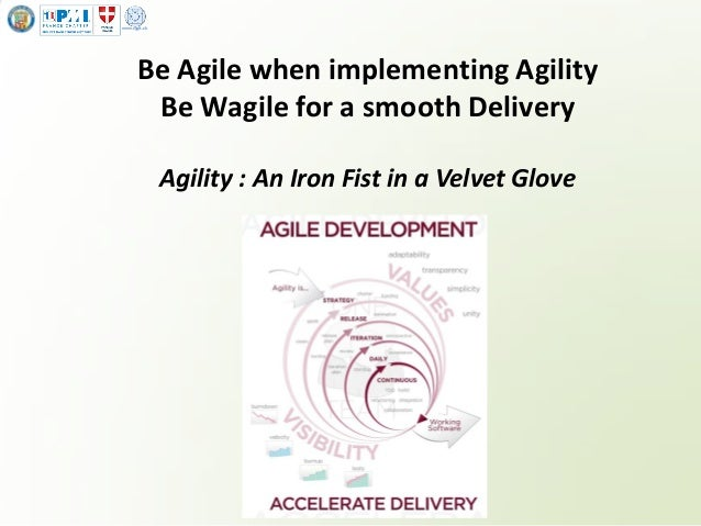 www.sygit.ch Be Agile when implementing Agility Be Wagile for a smooth Delivery Agility : An Iron Fist in a Velvet Glove
