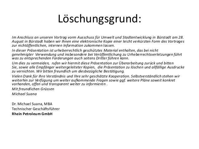 Löschungsgrund: Im Anschluss an unseren Vortrag vorm Ausschuss für Umwelt und Stadtentwicklung in Bürstadt am 28. August i...