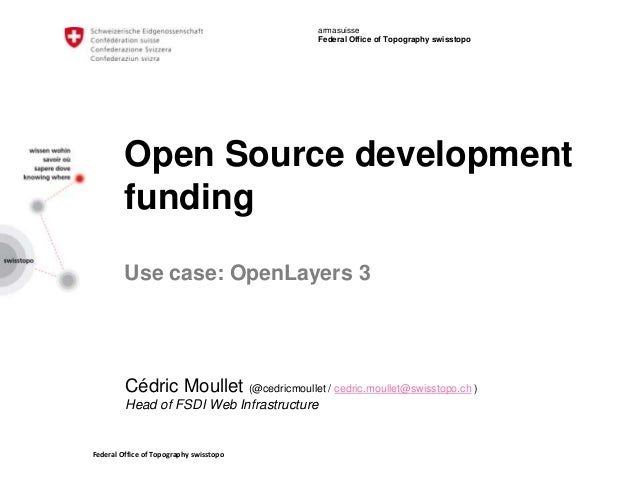 Federal Office of Topography swisstopo armasuisse Federal Office of Topography swisstopo Open Source development funding U...