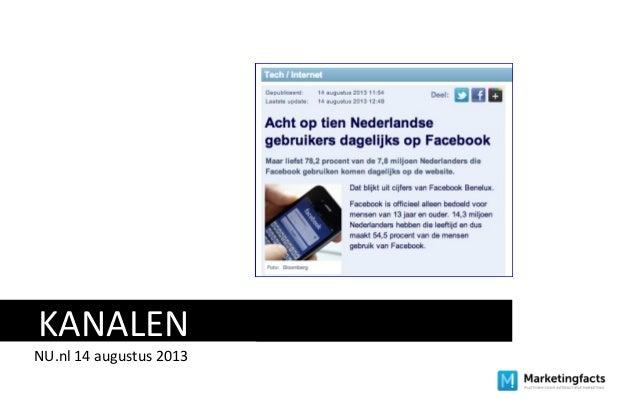 KANALEN NU.nl 14 augustus 2013