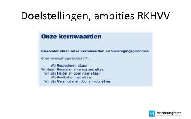 Doelstellingen, ambities RKHVV