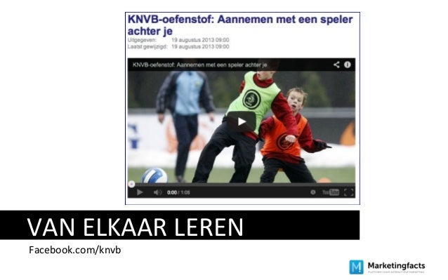 VAN ELKAAR LEREN Facebook.com/knvb