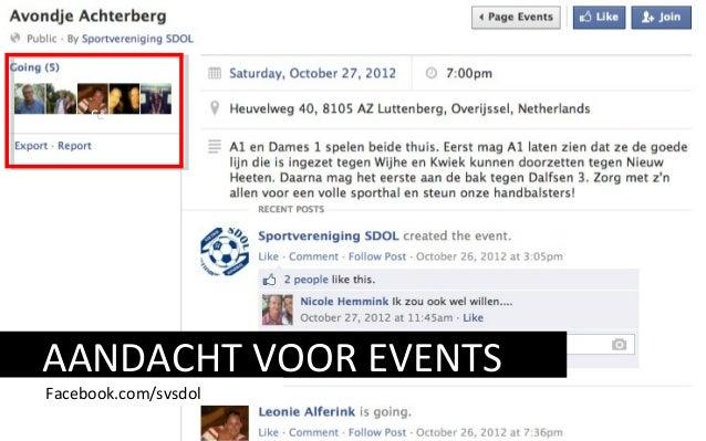 AANDACHT VOOR EVENTS Facebook.com/svsdol cc