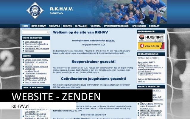 WEBSITE - ZENDEN RKHVV.nl