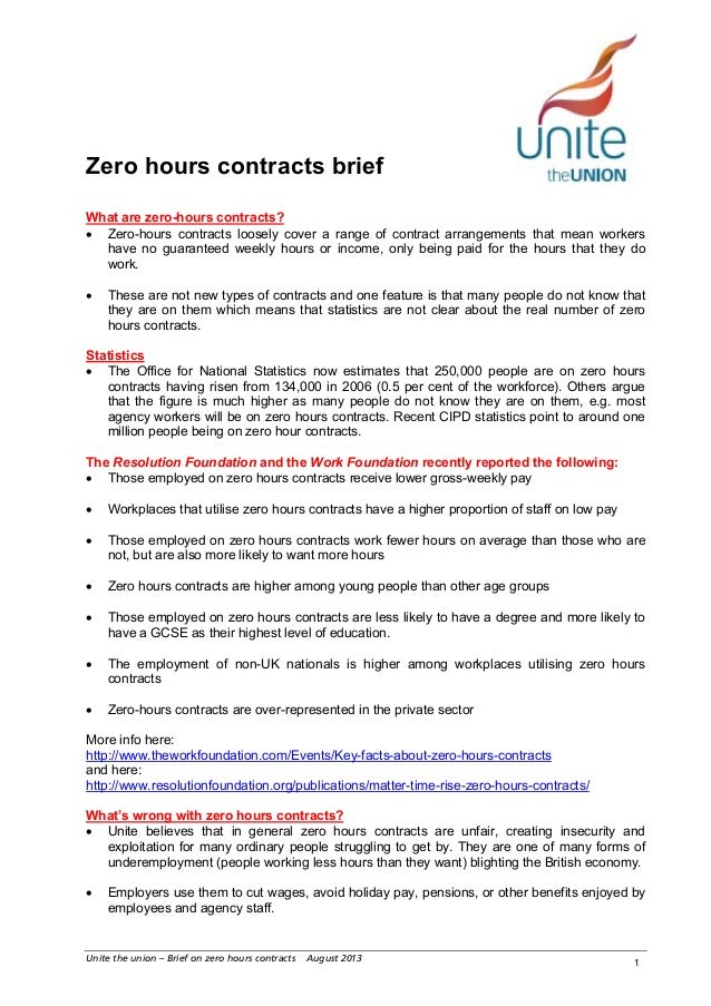 Holiday pay for zero hours contracts for Zero hour contract template free