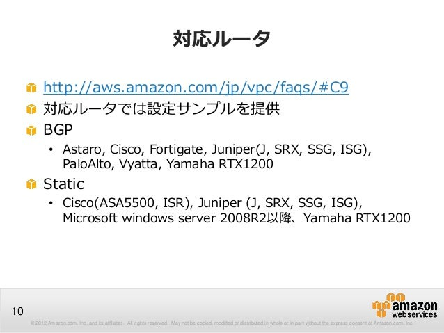 © 2012 Amazon.com, Inc. and its affiliates. All rights reserved. May not be copied, modified or distributed in whole or in...