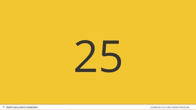 COMPANY CULTURE UNDER PRESSUREBERATUNG JUDITH ANDRESEN 25 16