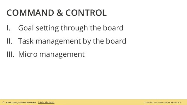 COMPANY CULTURE UNDER PRESSUREBERATUNG JUDITH ANDRESEN I. Goal setting through the board II. Task management by the board ...