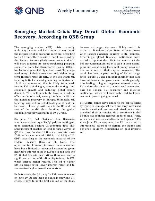 Weekly Commentary  QNB Economics  economics@qnb.com.qa  8 September 2013    Emerging  Market  Crisis  May  ...