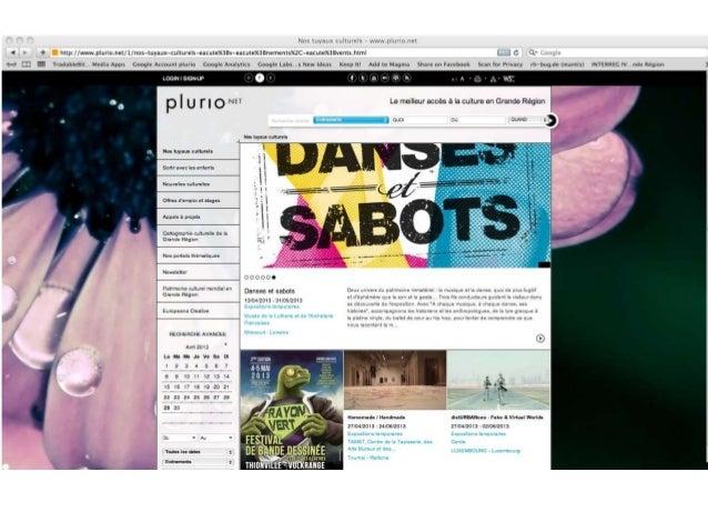 www.plurio.net frank.thinnes@culture.lu perine.weiland@culture.lu