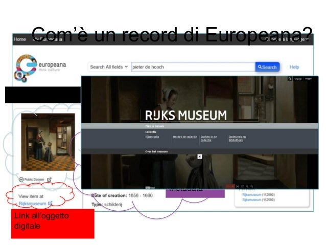 Come acquisisce i contenuti Europeana?  Attraverso il suo sistema di aggregazione, Europeana rappresenta 2.200 organizzaz...