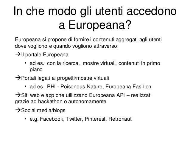 Europeana è un enorme dataset culturale aperto per il ri-uso – A partire da settembre 2012, i metadati di Europeana sono d...