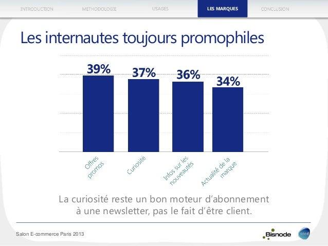 METHODOLOGIEINTRODUCTION LES MARQUESUSAGES CONCLUSION Salon E-commerce Paris 2013 La curiosité reste un bon moteur d'abonn...