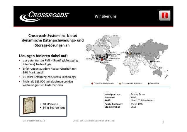 Wir  über  uns   24.  September  2013   Osys  Tech  Talk  FlashSpeicher  und  LTFS        2  ...