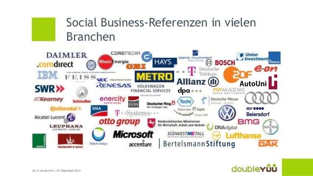 18 | © doubleYUU | 27 September 2013 Social Business-Referenzen in vielen Branchen