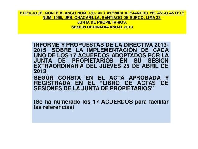 EDIFICIO JR. MONTE BLANCO NUM. 130-140 Y AVENIDA ALEJANDRO VELASCO ASTETE NUM. 1095, URB. CHACARILLA, SANTIAGO DE SURCO, L...
