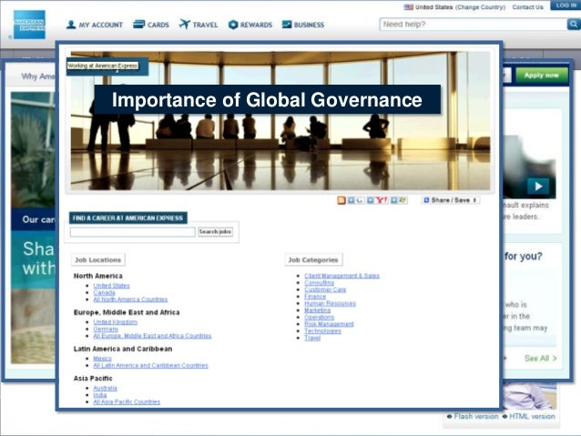 Importance of Global Governance  Attracting the right candidate in the right place quickly, efficiently, and consistently ...