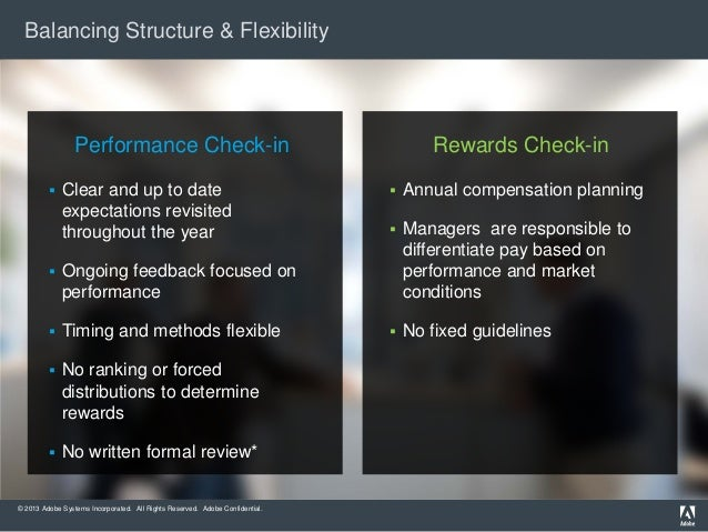 Balancing Structure & Flexibility  Performance Check-in   Clear and up to date expectations revisited throughout the year...