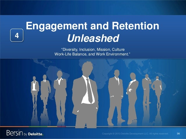 """4  Engagement and Retention Unleashed """"Diversity, Inclusion, Mission, Culture Work-Life Balance, and Work Environment.""""  3..."""