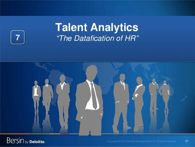 "Talent Analytics 7  ""The Datafication of HR""  57"