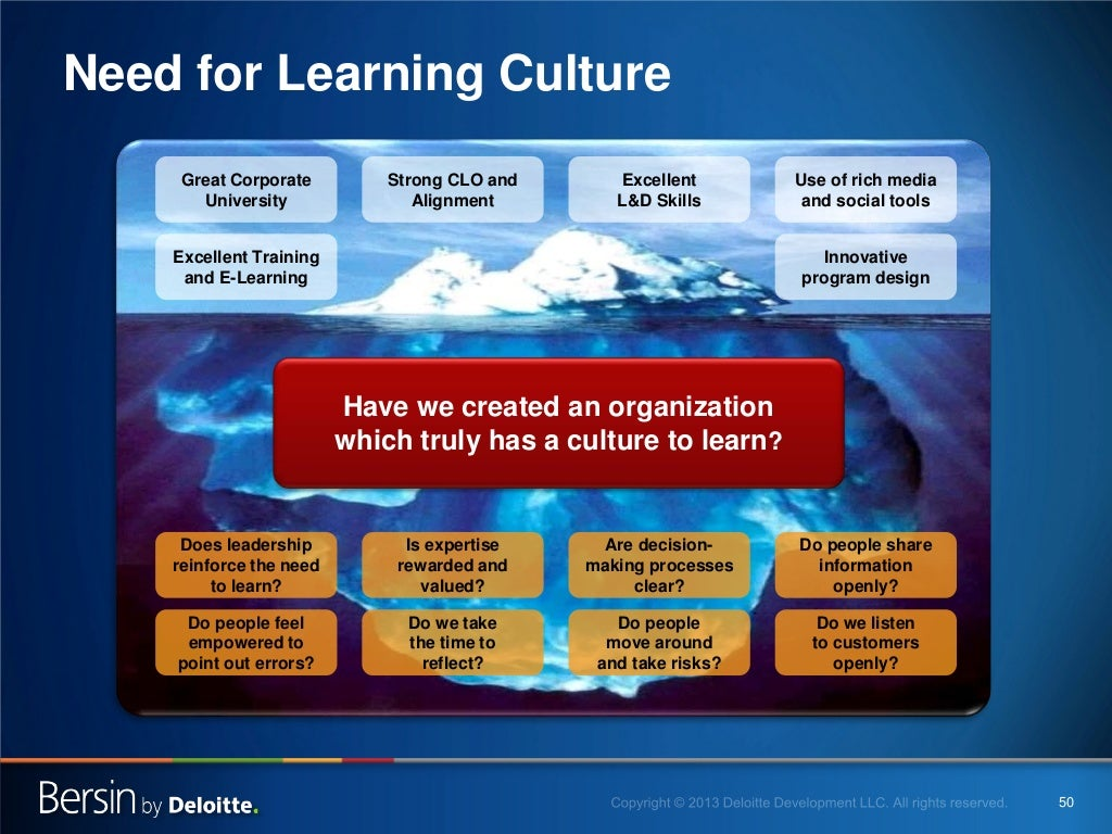 culture of learning Continuous learning supports agile adoption in enterprises a culture change can be needed to enable and support continuous learning there are several things that managers and agile coaches can do to establish and nurture a continuous learning culture.