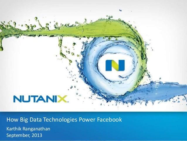1 Kannan Muthukkaruppan & Karthik Ranganathan Jun/20/2013 How Big Data Technologies Power Facebook How Big Data Technologi...