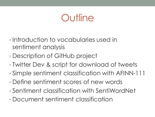 Tutorial of Sentiment Analysis
