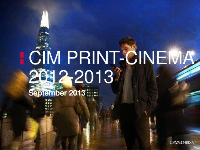 CIM PRINT-CINEMA 2012-2013 September 2013