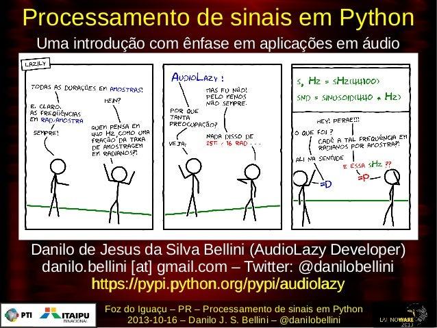 Processamento de sinais em Python Uma introdução com ênfase em aplicações em áudio  Danilo de Jesus da Silva Bellini (Audi...