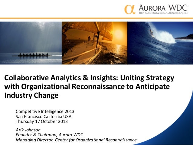Collaborative Analytics & Insights: Uniting Strategy with Organizational Reconnaissance to Anticipate Industry Change Comp...