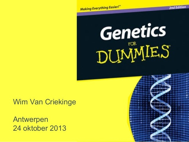 Wim Van Criekinge Antwerpen 24 oktober 2013