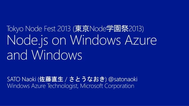 http://msopentech.com/blog/2011/06/23/ microsoft-working-with-joyent-and-the-nodecommunity-to-bring-node-js-to-windows/  h...