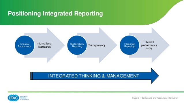 integrated reporting The long-awaited framework from the international integrated reporting council ( iirc) was released late last year, offering a set of guidelines.