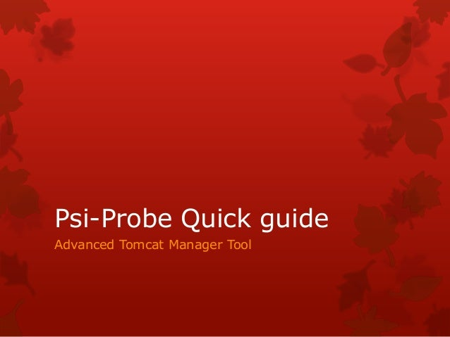 Psi-Probe Quick guide Advanced Tomcat Manager Tool