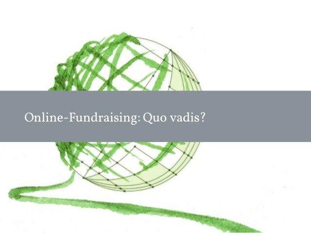 Online-Fundraising: Quo vadis?