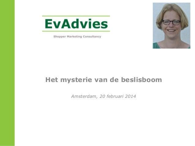 Het mysterie van de beslisboom Amsterdam, 20 februari 2014