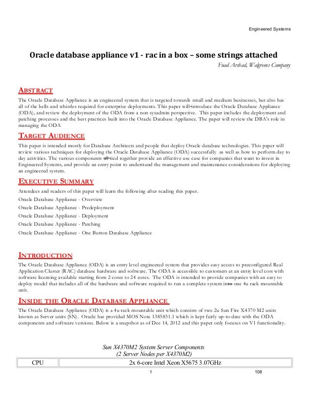 oracle database appliance rac in a box some strings attached. Black Bedroom Furniture Sets. Home Design Ideas