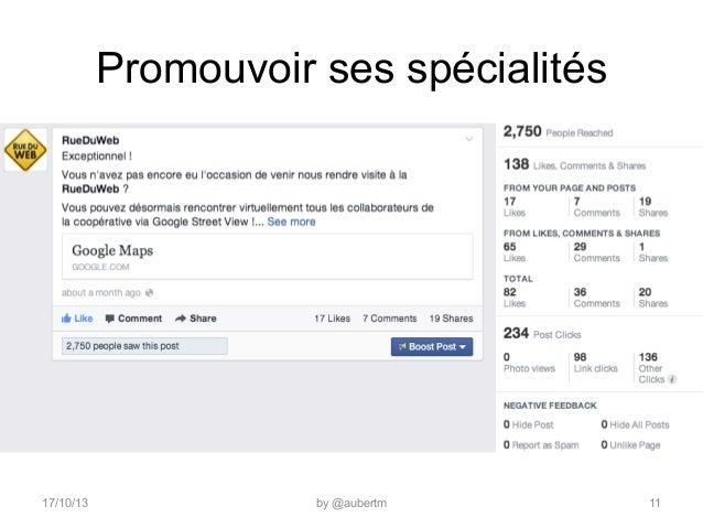 Promouvoir ses spécialités  17/10/13  by @aubertm  11
