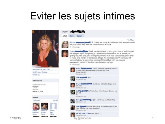 Eviter les sujets intimes  17/10/13  by @aubertm  16