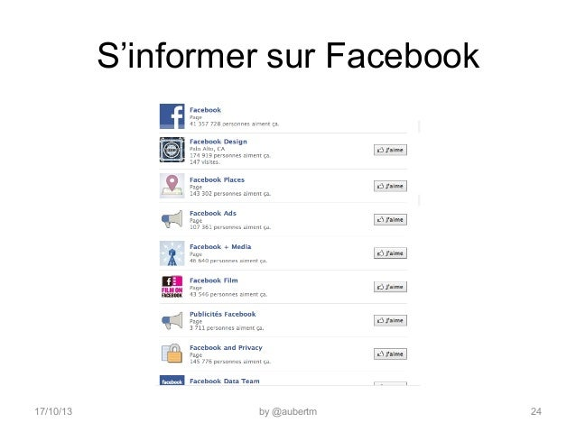 S'informer sur Facebook  17/10/13  by @aubertm  24