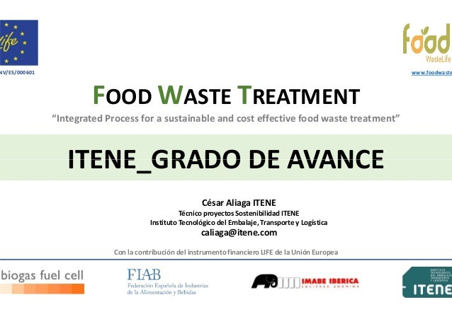 """NV/ES/000601  www.foodwaste  FOOD WASTE TREATMENT """"Integrated Process for a sustainable and cost effective food waste trea..."""
