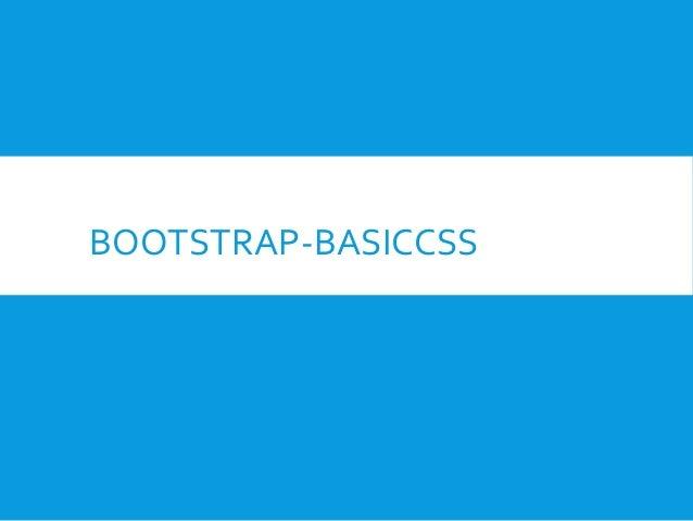 BOOTSTRAP-BASICCSS