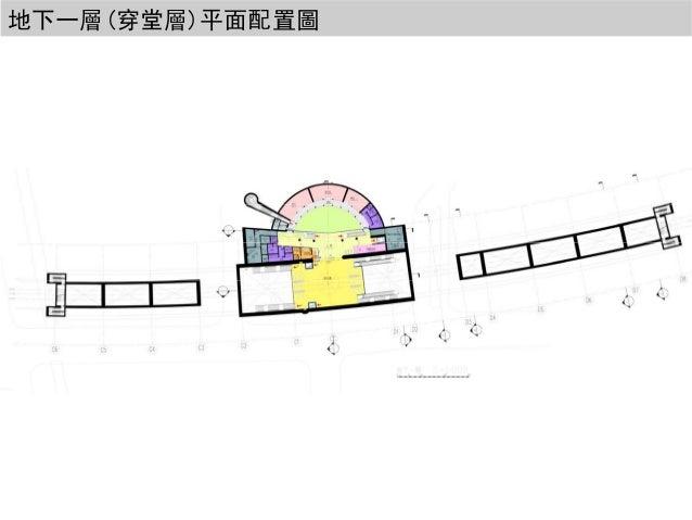 地下一層(穿堂層)平面配置圖