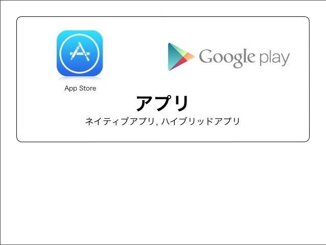 App Store  アプリ ネイティブアプリ, ハイブリッドアプリ