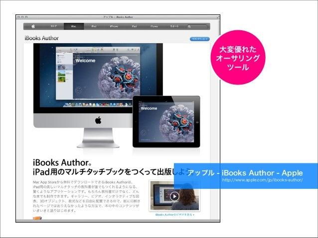大変優れた オーサリング ツール  アップル - iBooks Author - Apple http://www.apple.com/jp/ibooks-author/