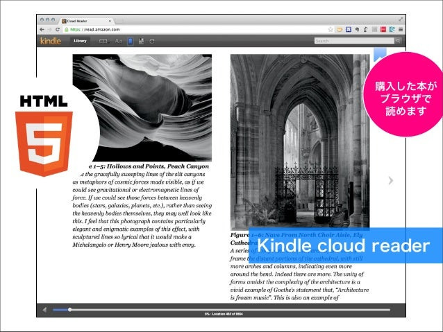 購入した本が ブラウザで 読めます  Kindle cloud reader