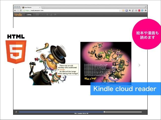 絵本や漫画も 読めます  Kindle cloud reader