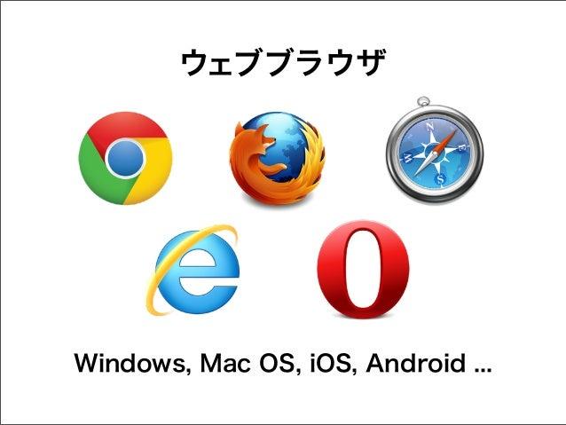 ウェブブラウザ  Windows, Mac OS, iOS, Android ...